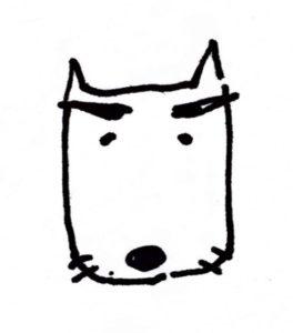犬マユゲでいこうには関係のないイラスト